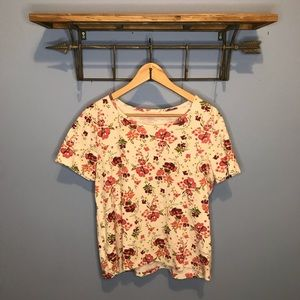 White Stag Floral Top